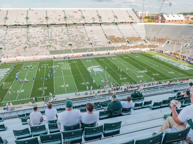 Spartan Stadium Section 125 view