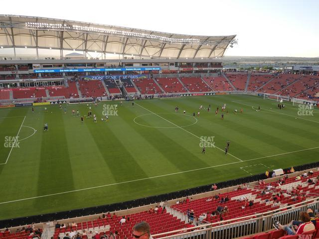 Rio Tinto Stadium Section 203 view