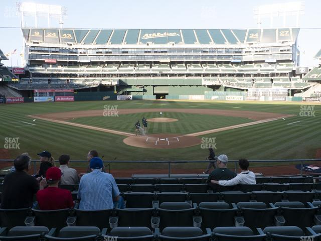 Oakland-Alameda County Coliseum Section 117 view