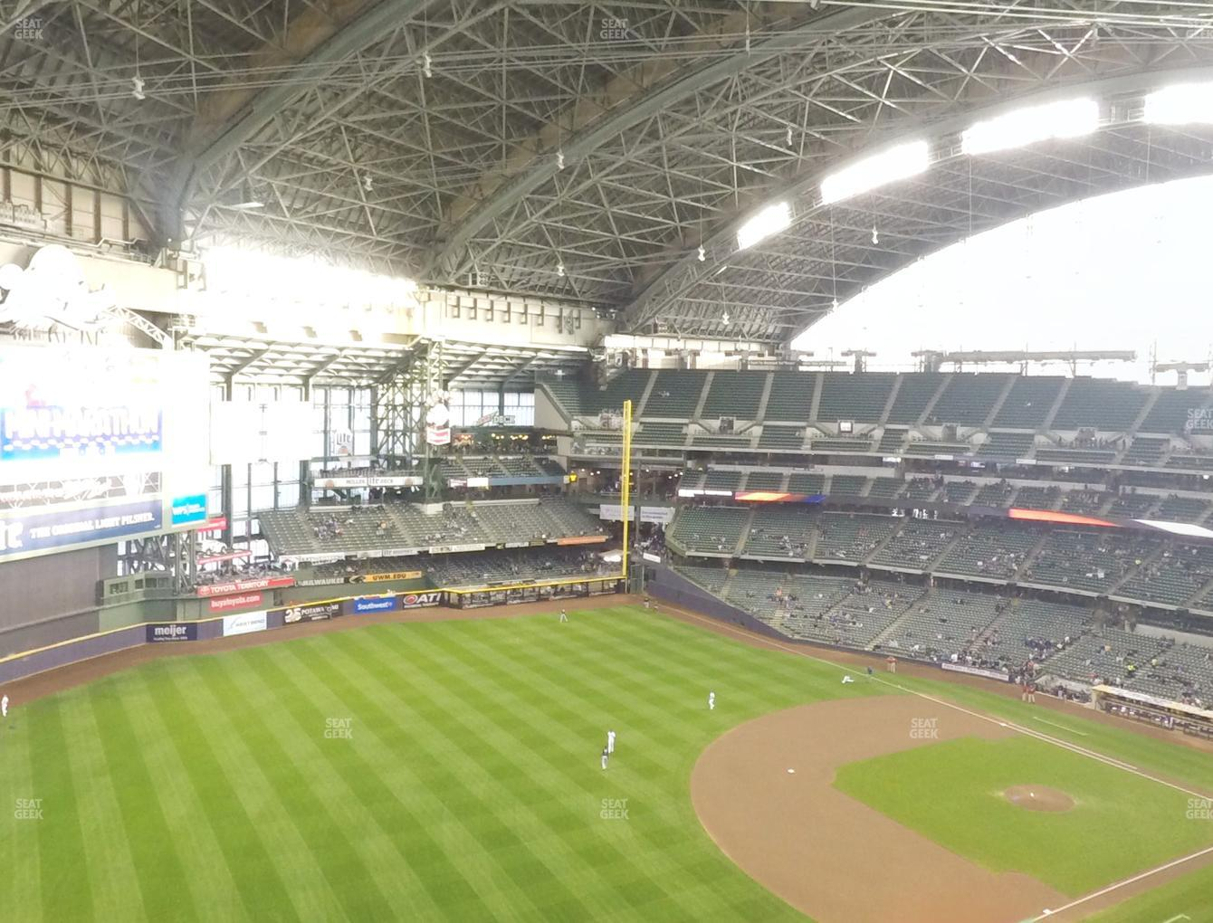 Concert at Miller Park Section 435 View