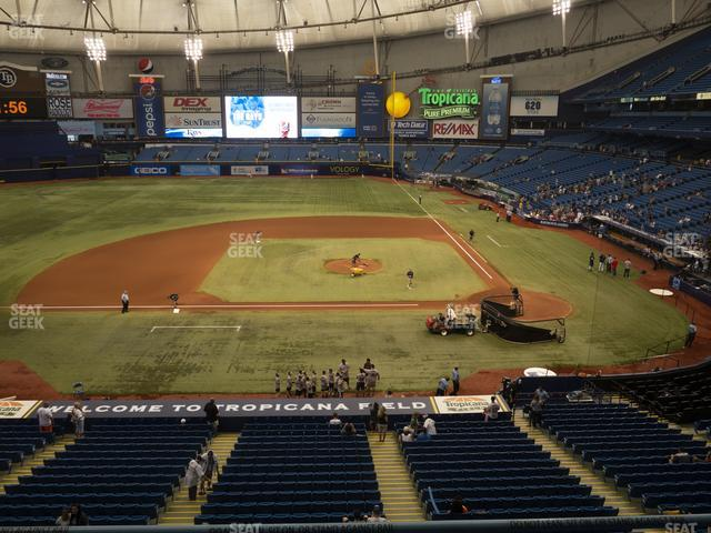 Tropicana Field Section 209 view
