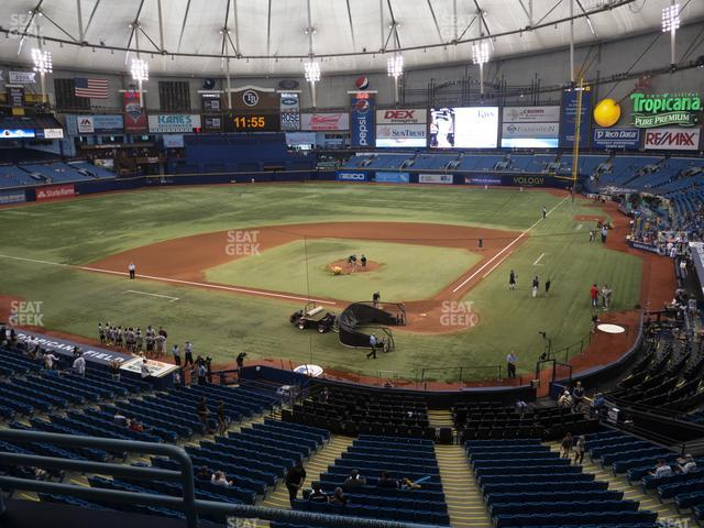 Tropicana Field Section 203 view