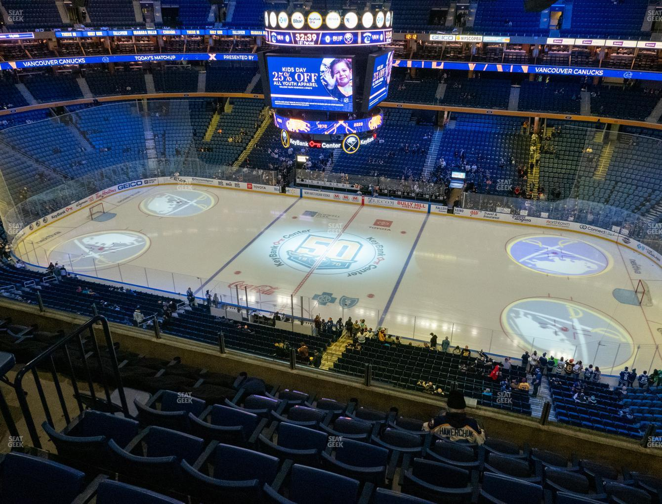 Buffalo Sabres at KeyBank Center Section 319 View
