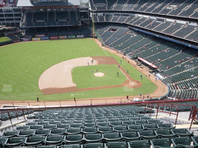 Globe Life Park Section 319 view