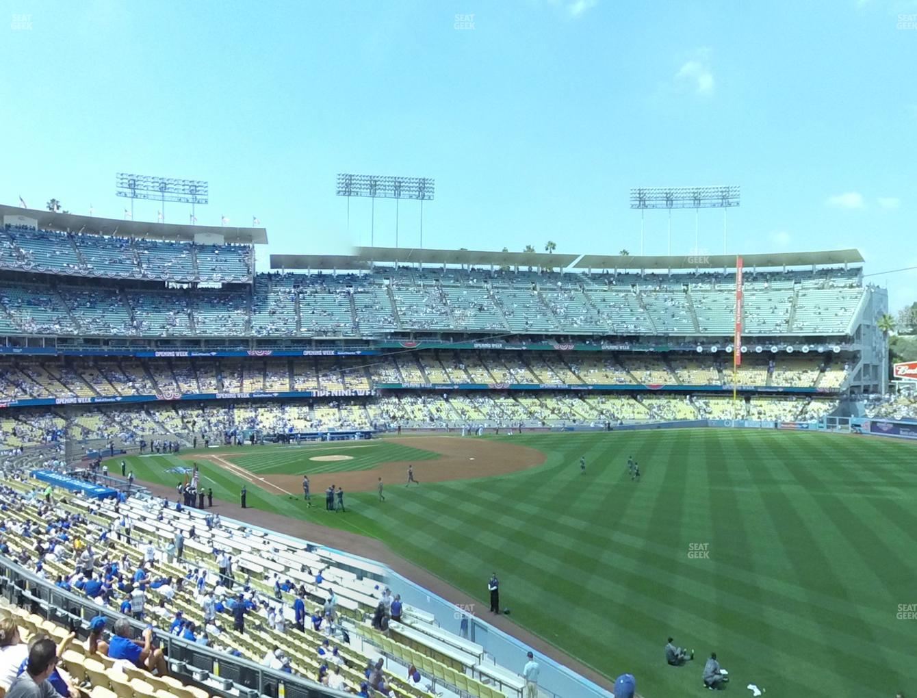 Los Angeles Dodgers at Dodger Stadium Loge Box 162 View