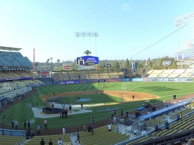 Dodger Stadium Loge Box 116 view