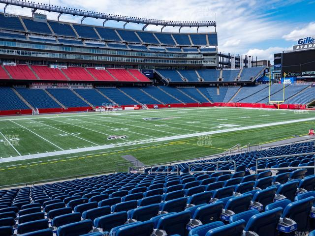 Gillette Stadium Section 113 view