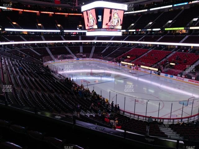 Canadian Tire Centre Section 218 view