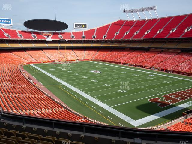Arrowhead Stadium Section 217 view