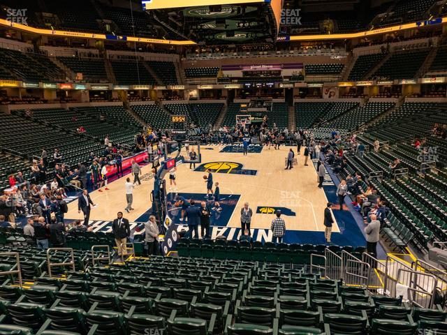 Bankers Life Fieldhouse Section 20 view