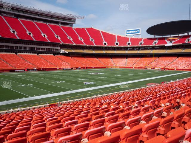 Arrowhead Stadium Section 105 view