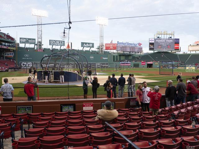 Fenway Park Field Box 40 view