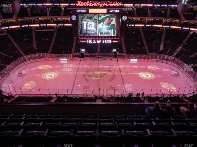 Xcel Energy Center Section 204 view
