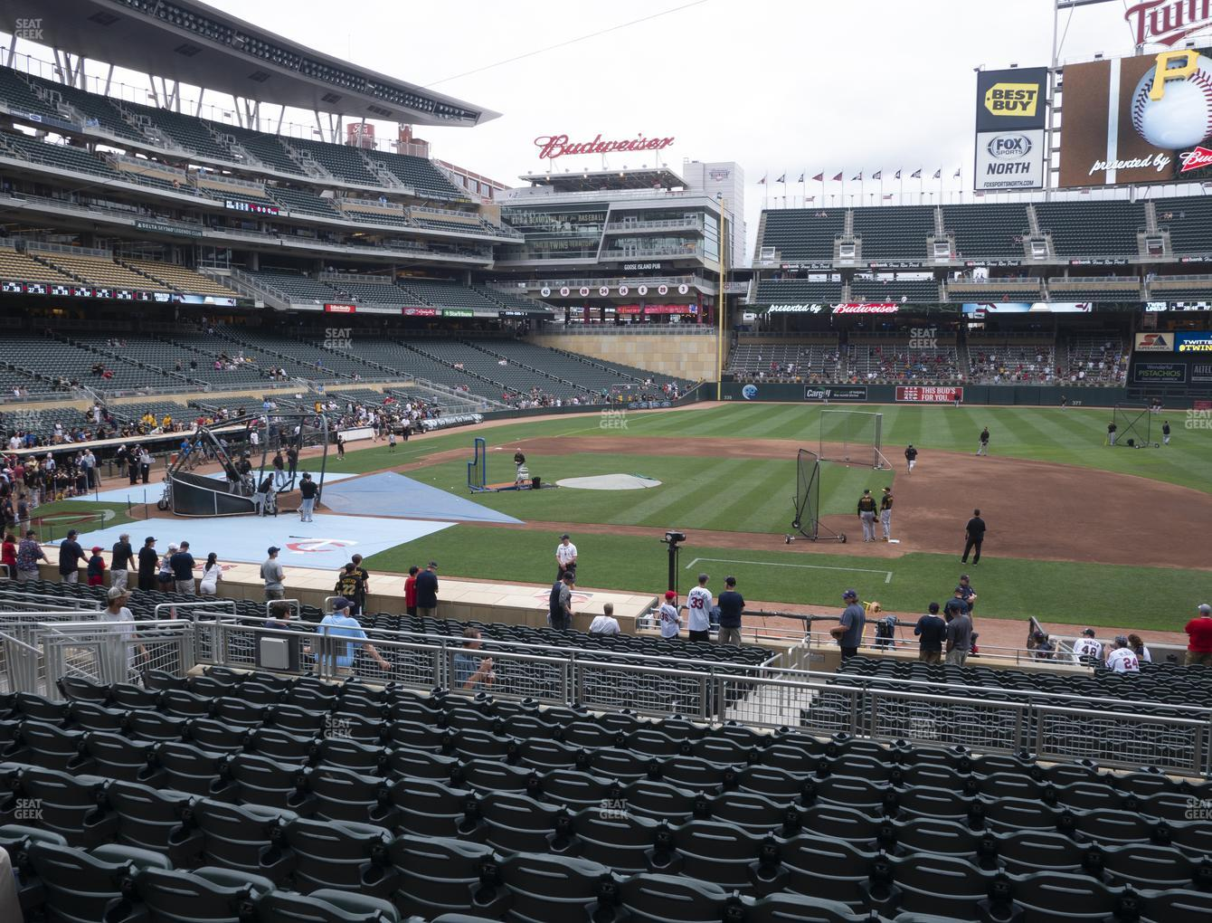 Minnesota Twins at Target Field Section 108 View