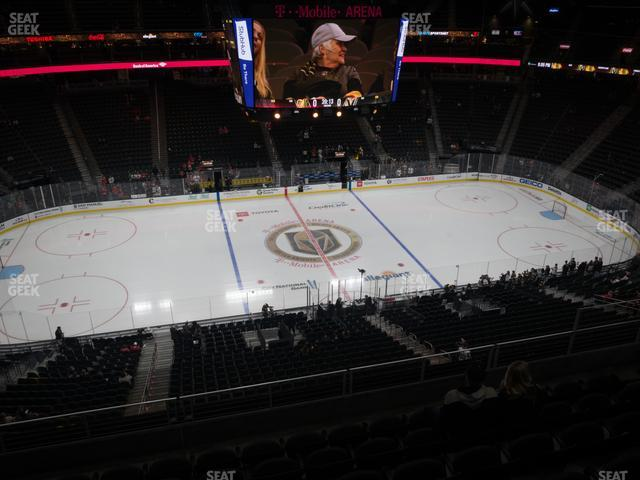 T-Mobile Arena Section 221 view