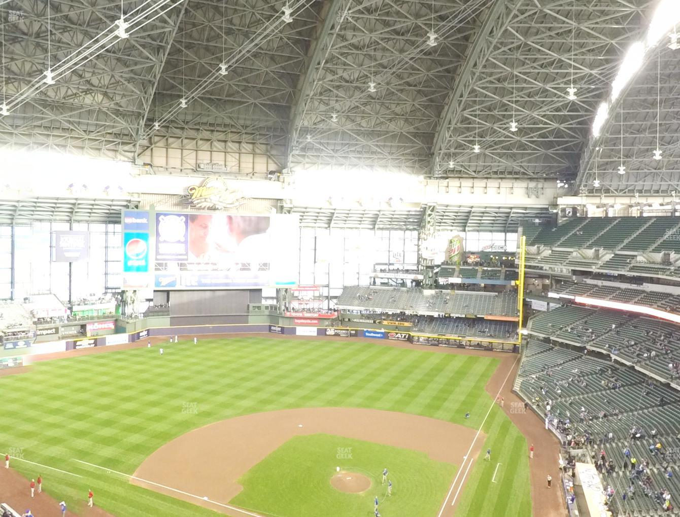 Milwaukee Brewers at American Family Field Section 425 View