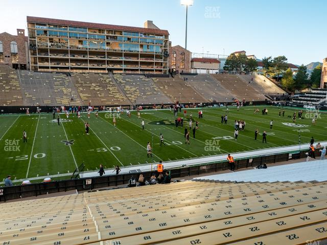 Folsom Field Section 116 view