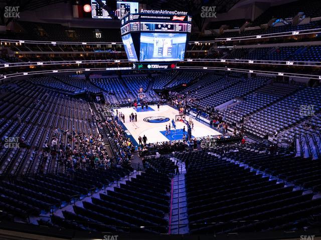 American Airlines Center Section 203 view