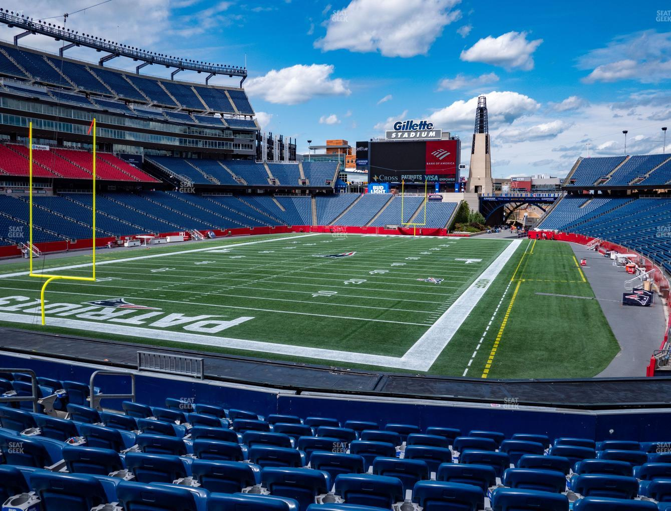 New England Patriots at Gillette Stadium Section 118 View