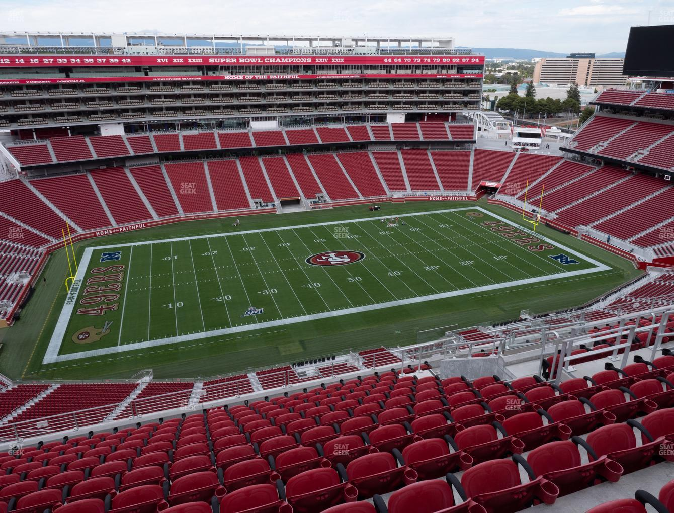 San Francisco 49ers at Levi's Stadium Section 414 View