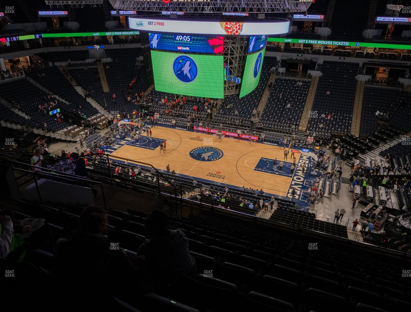 Minnesota Lynx at Target Center Section 209 View