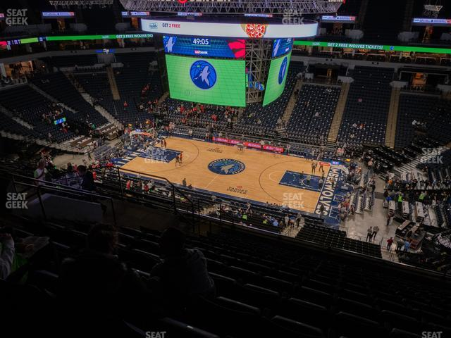 Target Center Section 209 view
