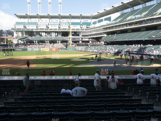 Progressive Field Section 162 view