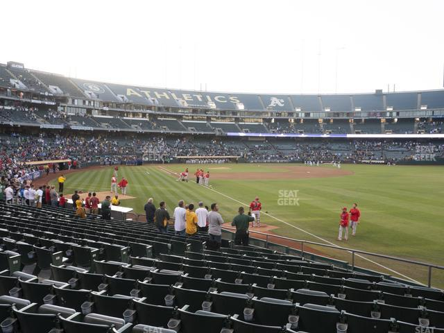 Oakland-Alameda County Coliseum Section 104 view