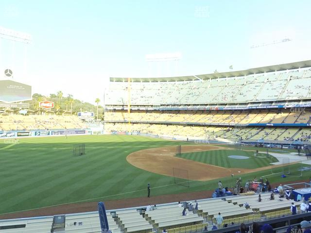 Dodger Stadium Loge Box 149 view