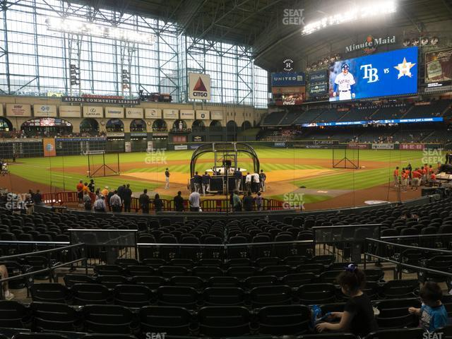 Minute Maid Park Section 119 view