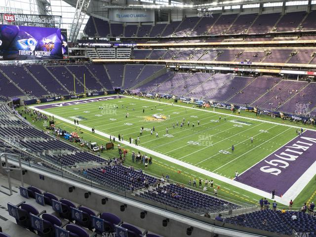 U.S. Bank Stadium Section 228 view