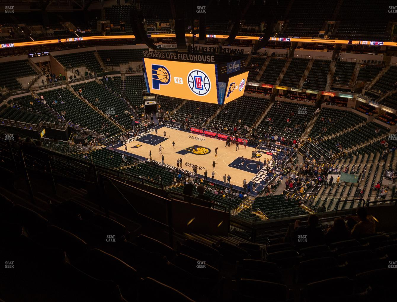 Indiana Pacers at Bankers Life Fieldhouse Section 222 View