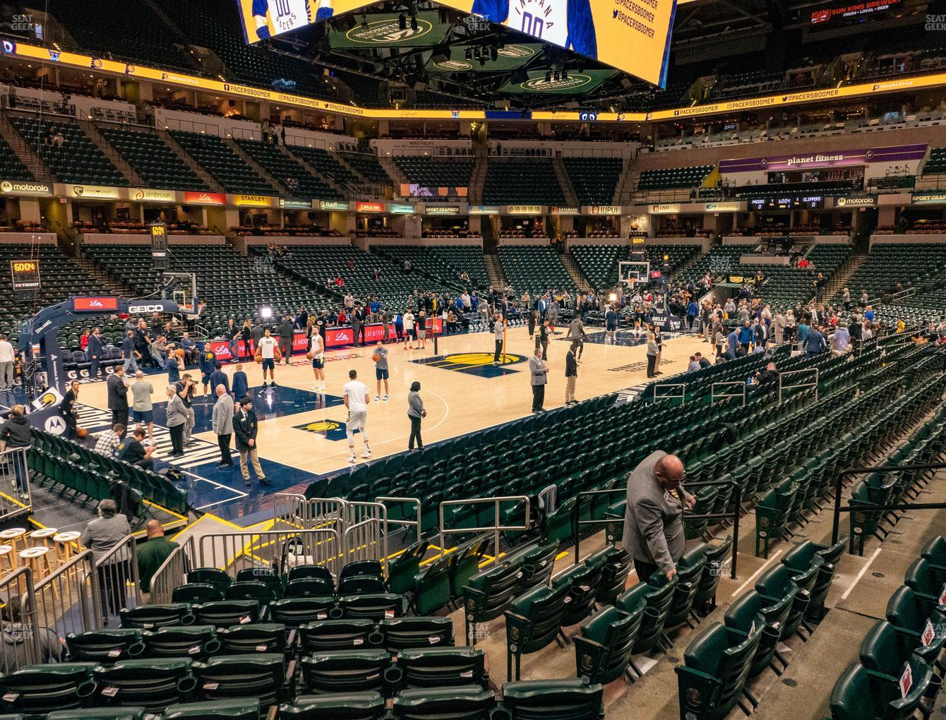 Indiana Pacers at Bankers Life Fieldhouse Section 18 View