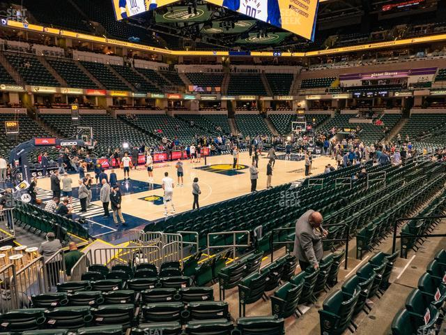 Bankers Life Fieldhouse Section 18 view