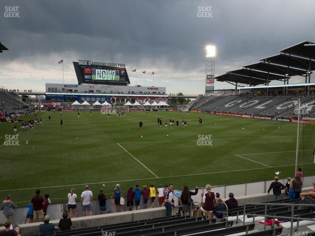 Dick's Sporting Goods Park Section 120 view