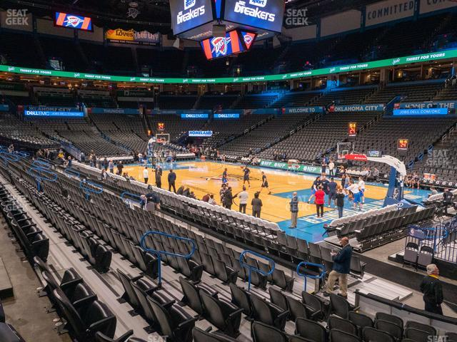 Chesapeake Energy Arena Section 103 view