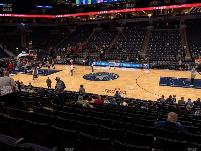 Target Center Section 110 view