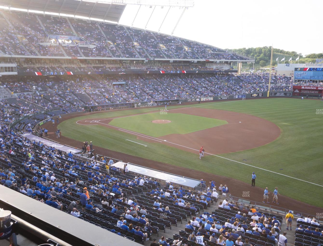 Kansas City Royals at Kauffman Stadium Section 321 View