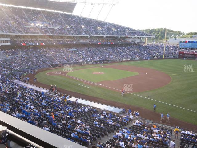 Kauffman Stadium Section 321 view