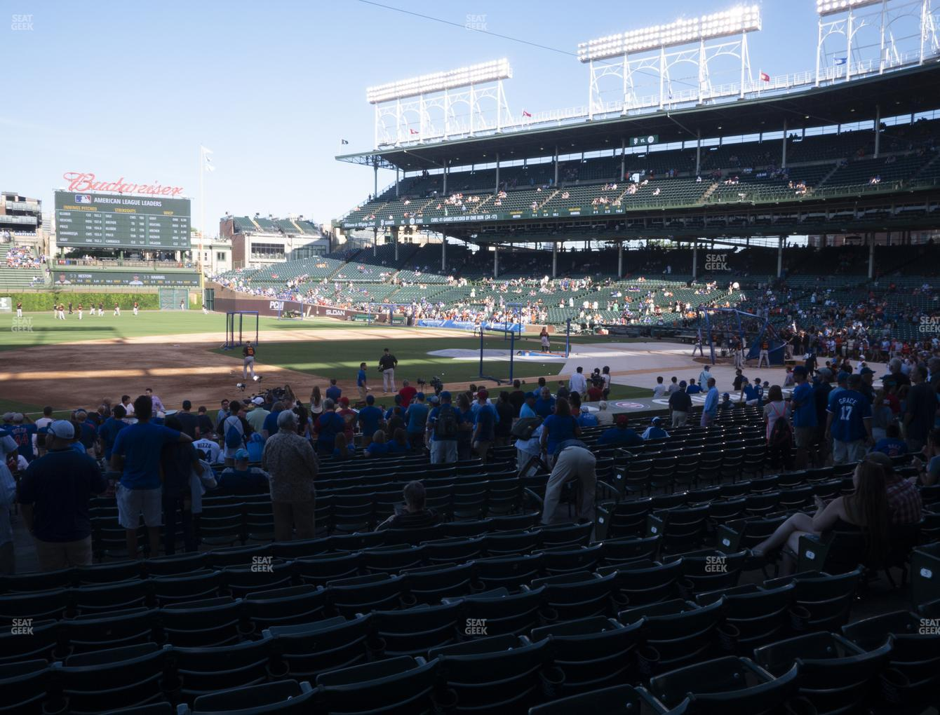 Chicago Cubs at Wrigley Field Section 110 View