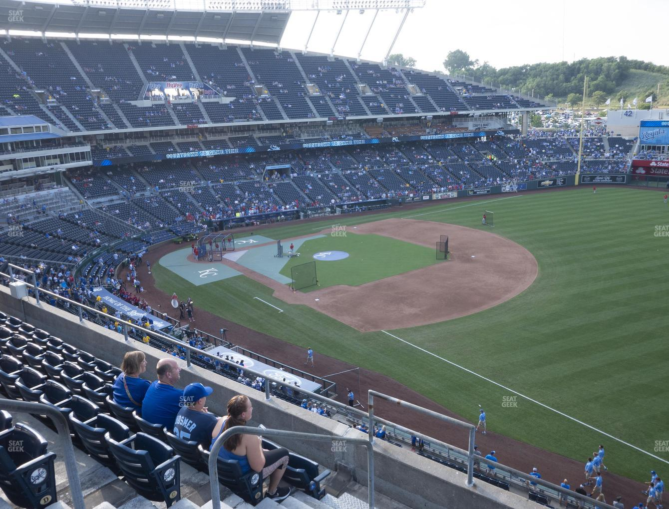 Kansas City Royals at Kauffman Stadium Section 436 View