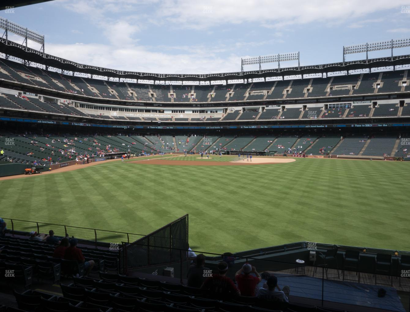 Texas Rangers at Globe Life Park Section 48 View