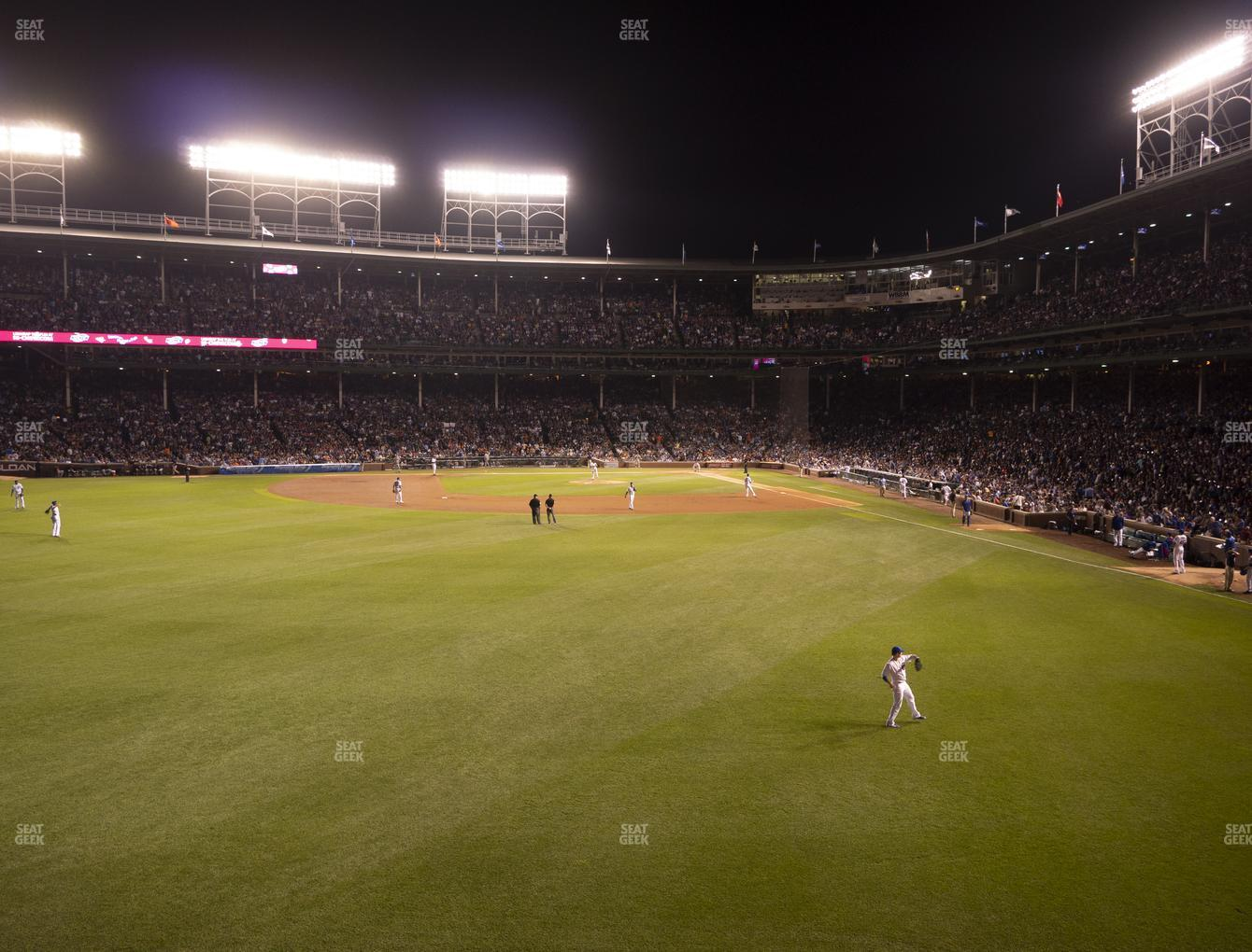 Chicago Cubs at Wrigley Field Budweiser Bleachers 502 View