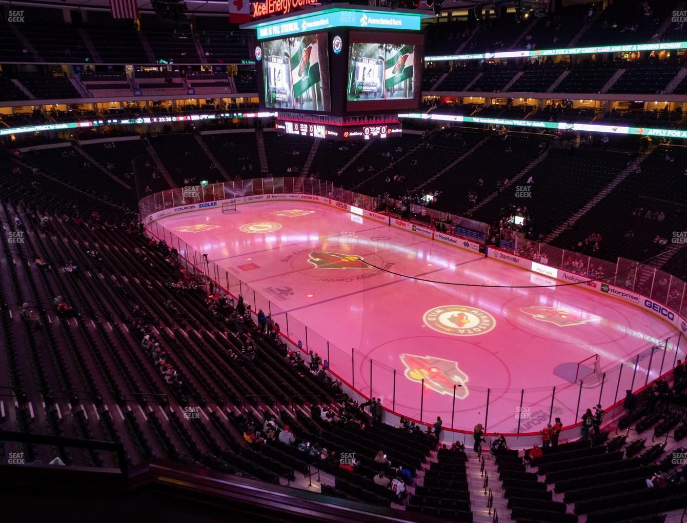 Minnesota Wild at Xcel Energy Center Section Club 40 View