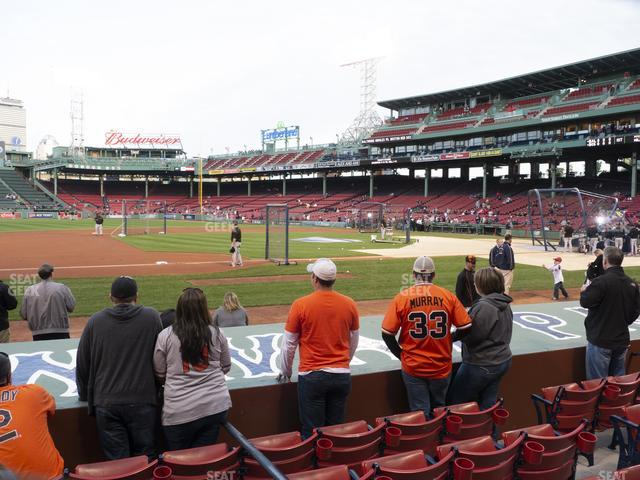 Fenway Park Field Box 66 view