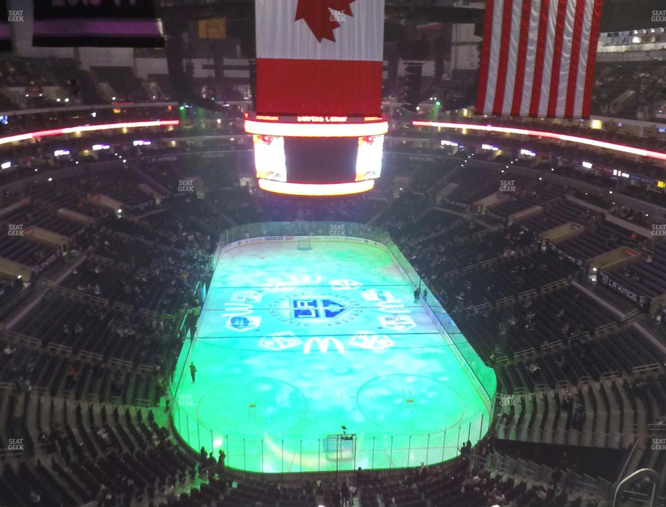 Los Angeles Kings at Staples Center Section 327 View