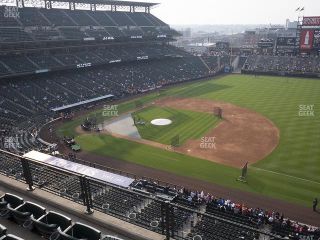 Coors Field Lower 319 view