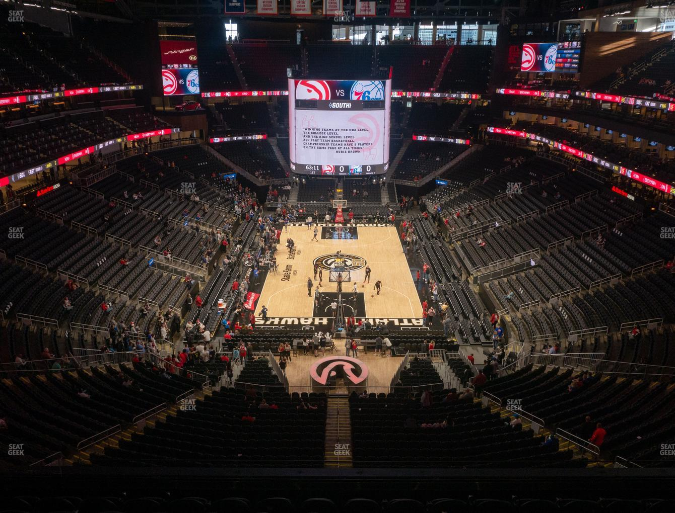 Atlanta Hawks at State Farm Arena Section 215 View