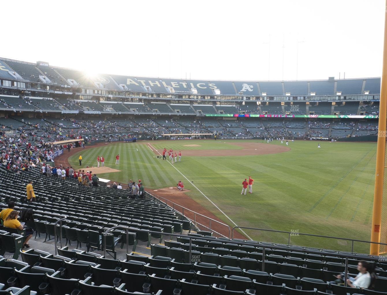 Oakland Athletics at RingCentral Coliseum Section 103 View