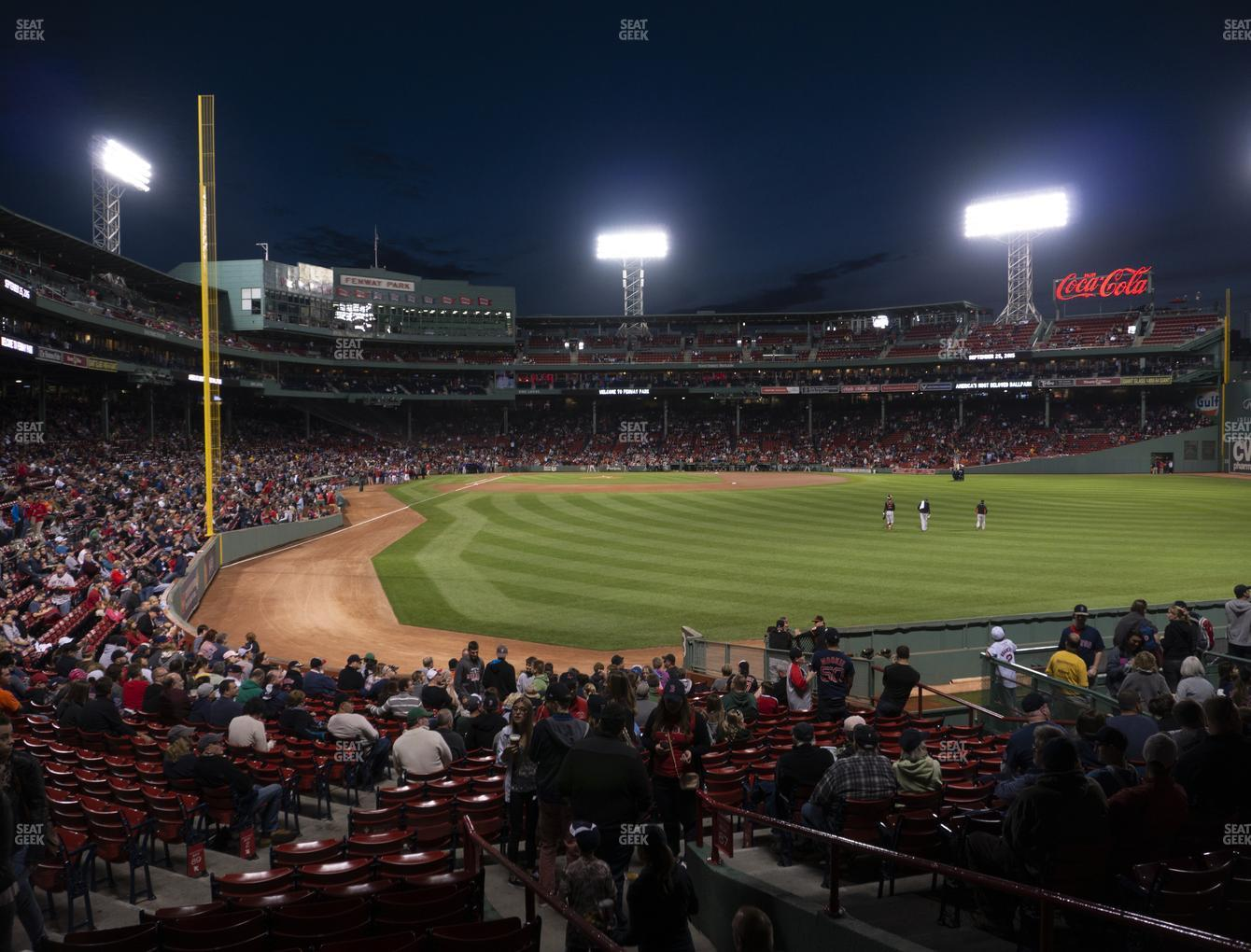 Boston Red Sox at Fenway Park Right Field Box 88 View